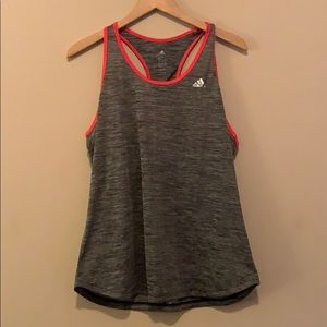 Open racer back Adidas workout tank